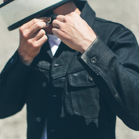 The Long Haul Jacket in Yoshiwa Mills Black Selvage: Alternate Image 5