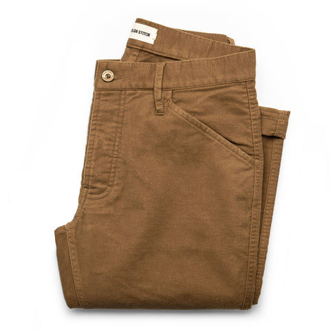 The Camp Pant in British Khaki Moleskin - featured image