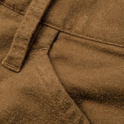 The Camp Pant in British Khaki Moleskin - alternate view