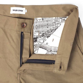 Khaki Slim Chinos Detail