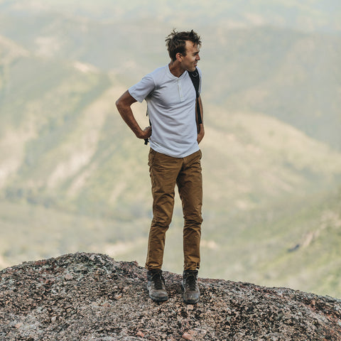 The Travel Chino in British Khaki - alternate view