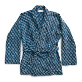The Kimono in Indigo Dyed Jacquard: Featured Image