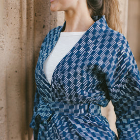 The Kimono in Indigo Dyed Jacquard: Alternate Image 4
