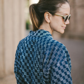 The Kimono in Indigo Dyed Jacquard: Alternate Image 5