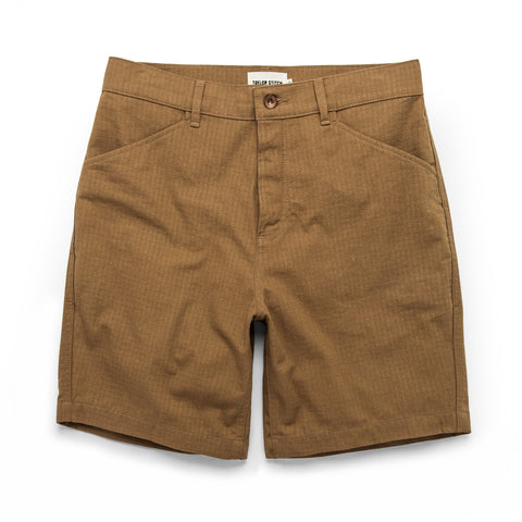 The Camp Short in British Khaki Ripstop - featured image