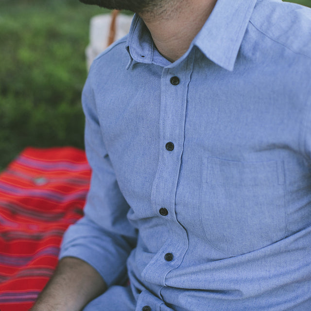 The California in Light Blue Everyday Chambray