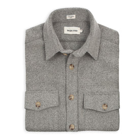 The Maritime Shirt Jacket in Ash Melton Wool: Featured Image