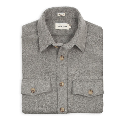 The Maritime Shirt Jacket in Ash Melton Wool - featured image