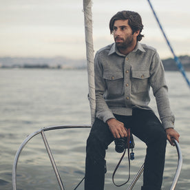 The Maritime Shirt Jacket in Ash Melton Wool: Alternate Image 1