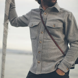 The Maritime Shirt Jacket in Ash Melton Wool: Alternate Image 3