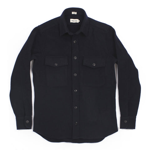 The Maritime Shirt Jacket in Navy Melton Wool - alternate view