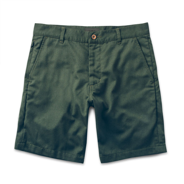 The Commuter Short in Olive Merino 4S