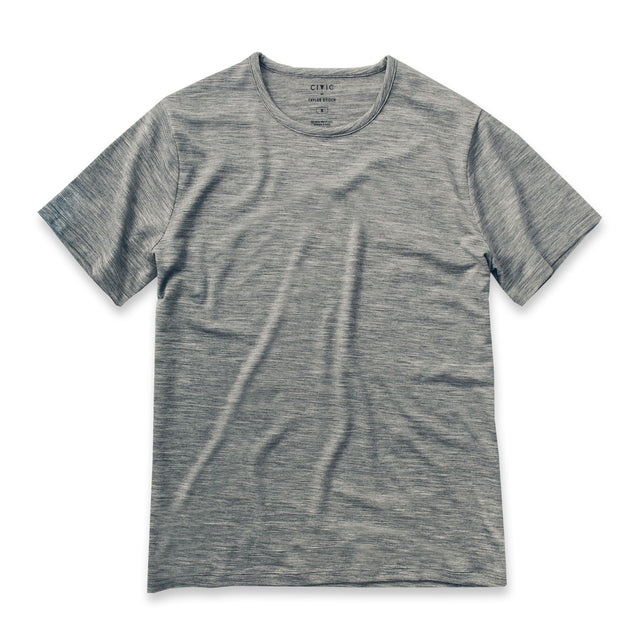 The Mercerized Merino Tee in Heather Grey