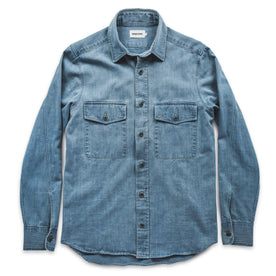 The Maritime Shirt Jacket in Sun Bleached Indigo: Alternate Image 6