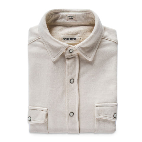 The Glacier Shirt in Natural French Terry - featured image