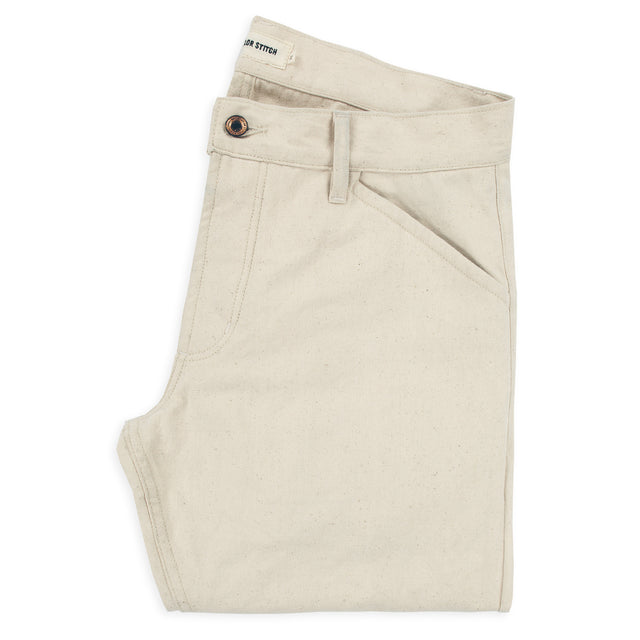 The Camp Pant in Natural Selvage Canvas