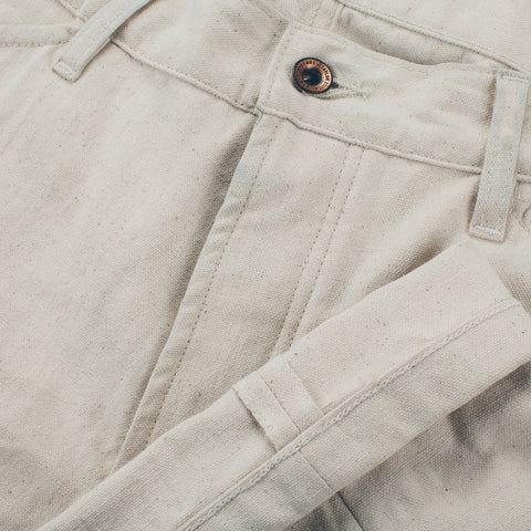 The Camp Pant in Natural Selvage Canvas - alternate view