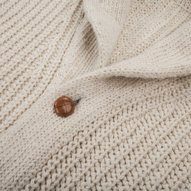 The Shawl Cardigan in Natural Cotton: Alternate Image 4