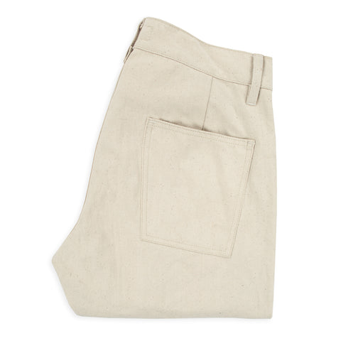 The Camp Pant in Natural Selvage Canvas - featured image