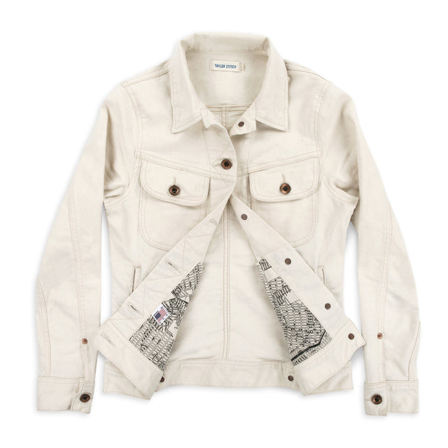 The Pacific Jacket in Natural Denim