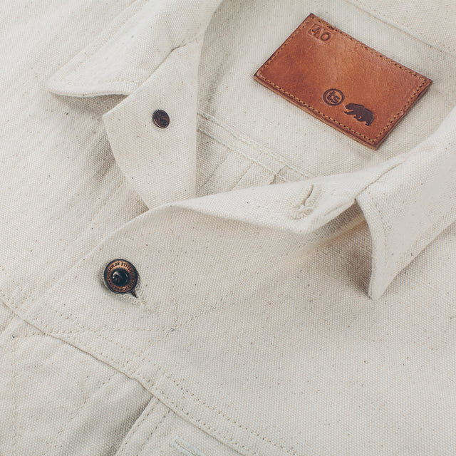 The Long Haul Jacket in Natural Selvage Canvas