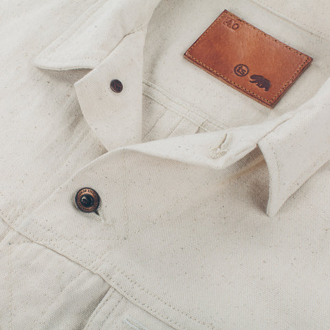 The Long Haul Jacket in Natural Selvage Canvas - alternate view
