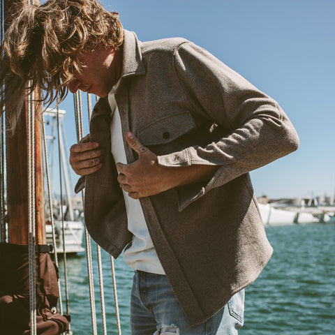 The Maritime Shirt Jacket in Natural - alternate view