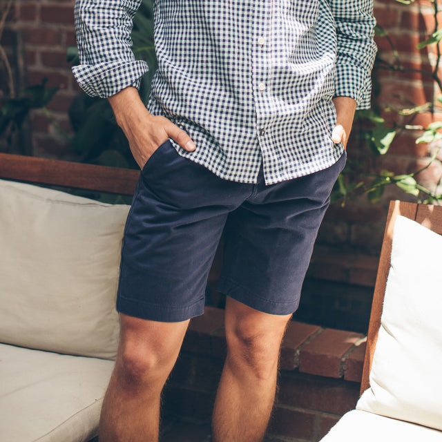 Traveler Shorts in Navy Twill