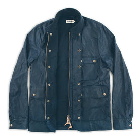 The Rover Jacket in Navy Waxed Cotton: Alternate Image 6