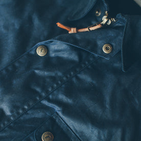 The Rover Jacket in Navy Waxed Cotton: Alternate Image 5