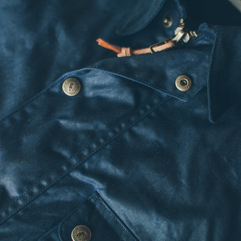 The Rover Jacket in Navy Waxed Cotton - alternate view