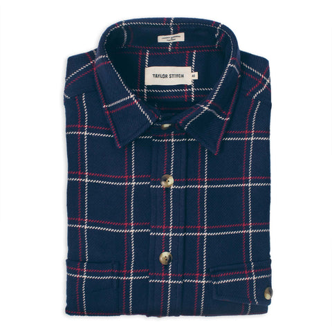 The Crater Shirt in Navy Plaid - featured image