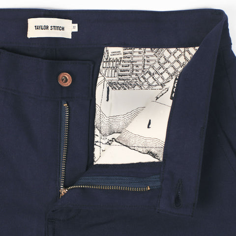 The Slim Chino in Navy - alternate view