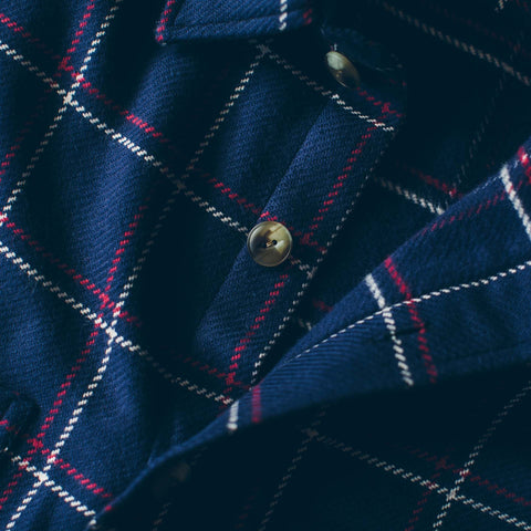 The Crater Shirt in Navy Plaid - alternate view