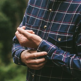 The Crater Shirt in Navy Plaid: Alternate Image 5