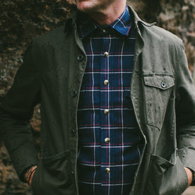 The Crater Shirt in Navy Plaid: Alternate Image 4