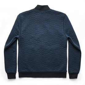 The Inverness Bomber in Navy Knit Quilt: Alternate Image 9
