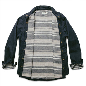 The Chore Jacket in Navy Dry Wax Canvas: Alternate Image 8