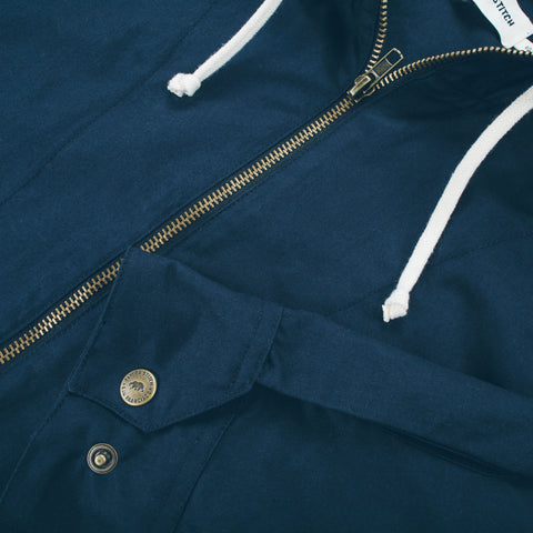 The Beach Jacket in Navy - alternate view