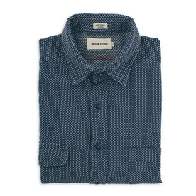The Utility Shirt in Indigo Cross Jacquard: Featured Image
