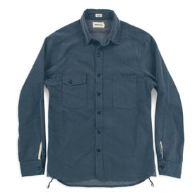 The Utility Shirt in Indigo Cross Jacquard: Alternate Image 2