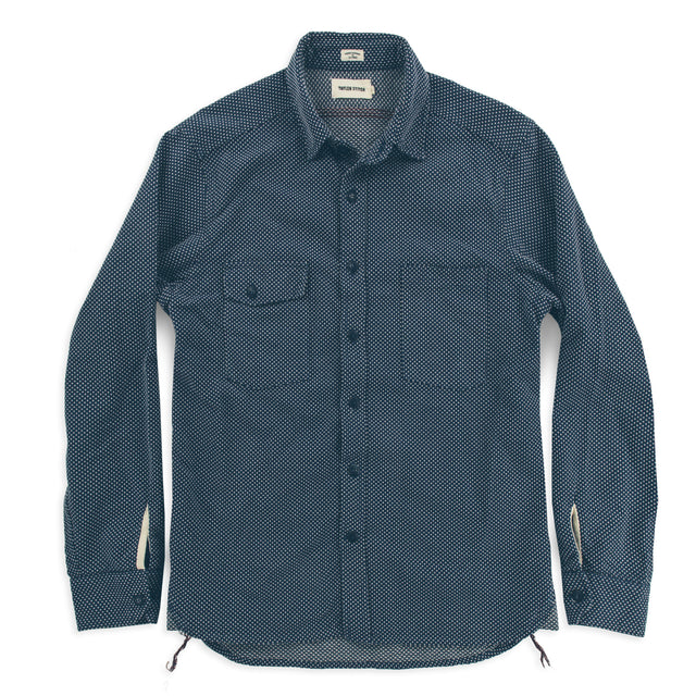 The Utility Shirt in Indigo Cross Jacquard