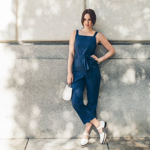 The Frankie Jumpsuit in Cobalt - alternate view