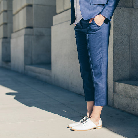The Parsons Pant in Cobalt - alternate view