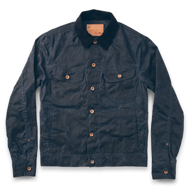 The Long Haul Jacket in Navy Waxed Canvas
