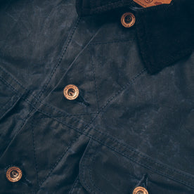 The Long Haul Jacket in Navy Waxed Canvas: Alternate Image 4
