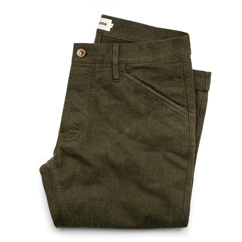 The Camp Pant in Heather Olive Twill - featured image
