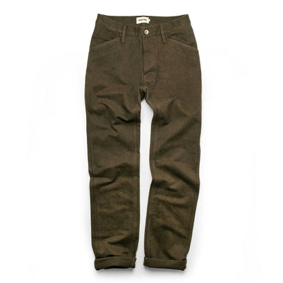 The Camp Pant in Heather Olive Twill: Alternate Image 9