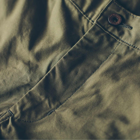The Travel Chino in Olive - alternate view