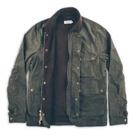 The Rover Jacket in Dark Olive Beeswaxed Canvas: Alternate Image 7